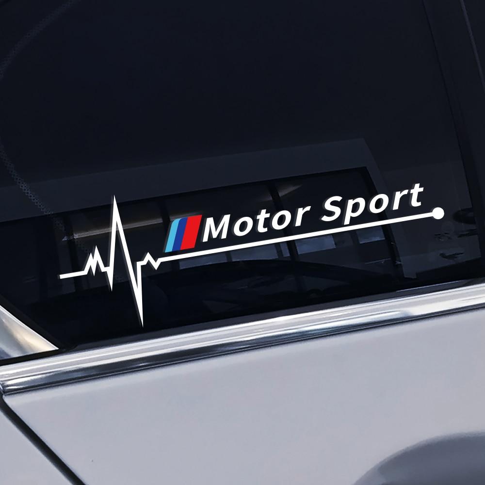 Para BMW E46 E90 E60 E39 E36 E87 E92 E91 E34 F30 E10 F20 F30 G30 X1 X3 X5 X6 Acessórios Carro Tuning 2PCS Janela Lateral Do Carro Adesivos
