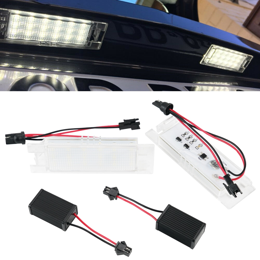 2 uds coche LED luz de placa de matrícula para Fiat Brava/Bravo/Croma/Linea 6500K blanco bombillas led