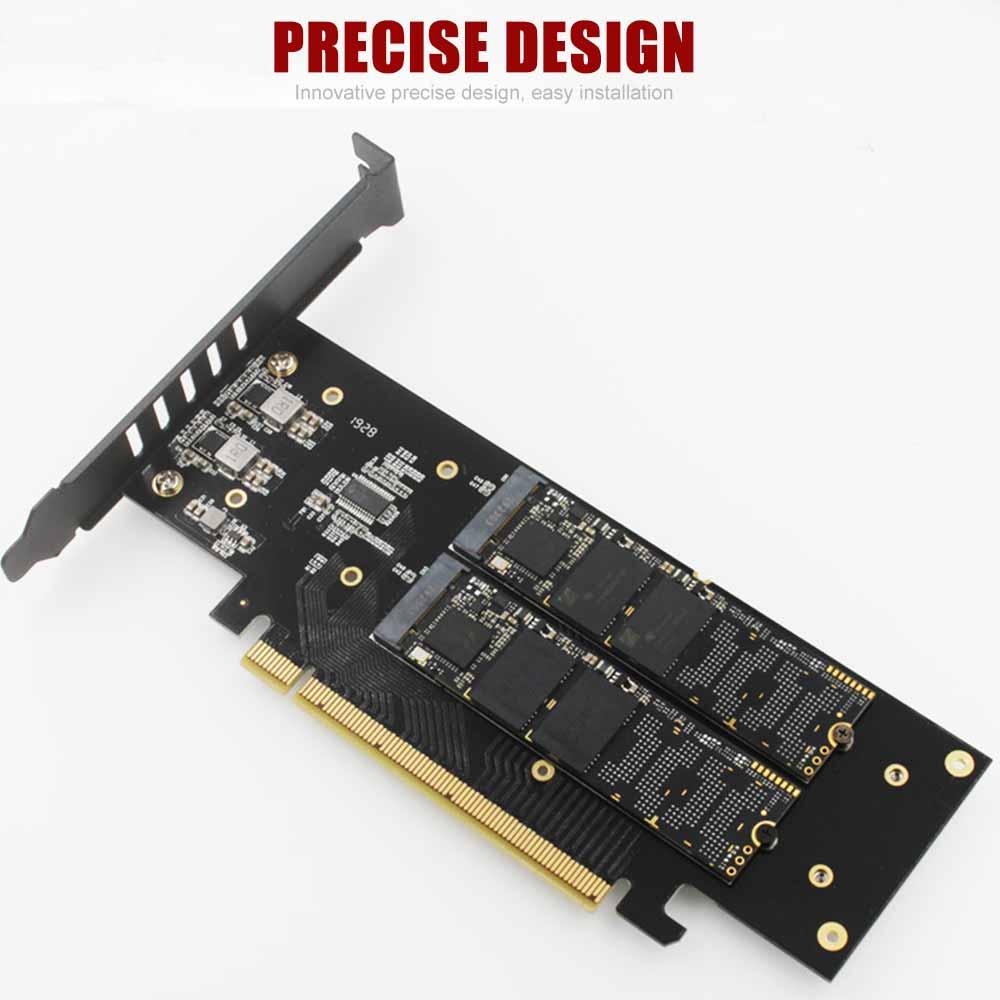AliExpress - JEYI iHyper m.2 X16 TO 4X NVME PCIE3.0 GEN3 X16 TO 4*NVME RAID CARD PCI-E VROC CARD RAID Hyper M.2X16 M2X16 4X X4 NVME*4 RAID