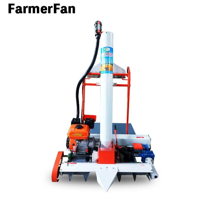 automatic self-propelled double-export bagging and filling machine for grain rice harvesting agricultural machinery drying yard enlarge