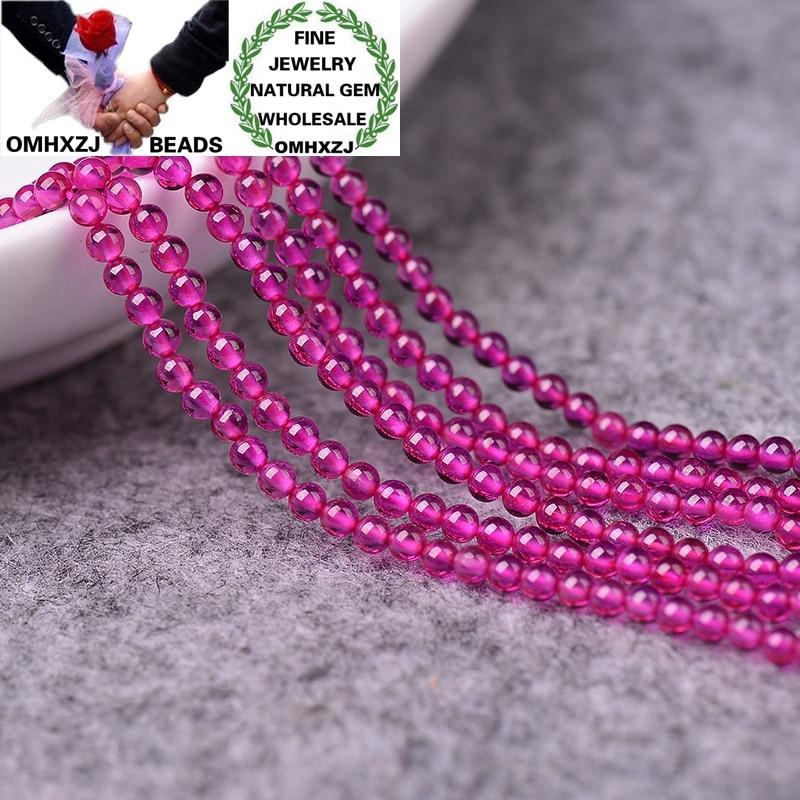OMHXZJ, venta al por mayor, ZB280 2,5, 3mm, pulsera DIY, collar, fabricación de joyas, accesorios, componentes de piedra Natural, Rosa fina, cuentas giratorias