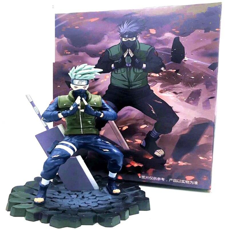 Naruto Kakashi Hatake estatua PVC figura de acción Anime Naruto Shippuden Kakashi estatuilla de juguete de modelos coleccionables