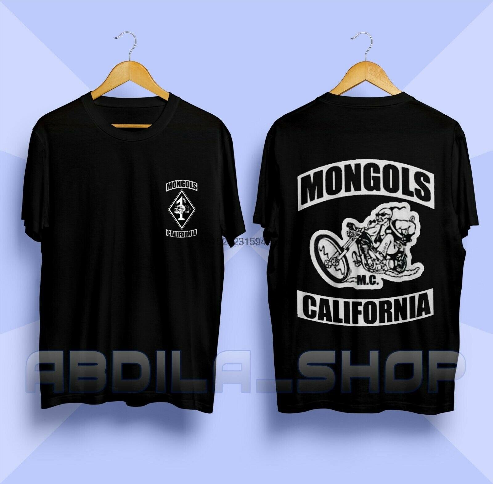 MONGOLS MC California Австралия логотип мотоцикл клуб Футболка Черный Размер S-3XL