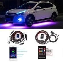 Araba altında şasi Underglow şerit LED ışık renkli atmosfer lambası Hyundai Tucson Sonata Verna Solaris IX35 I30 Elantra