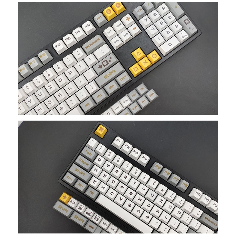 لعبة موضوع 131 مفتاح PBT المفاتيح حروف مفاتيح OEM حقن غطاء مفتاح ميكانيكي 35EA