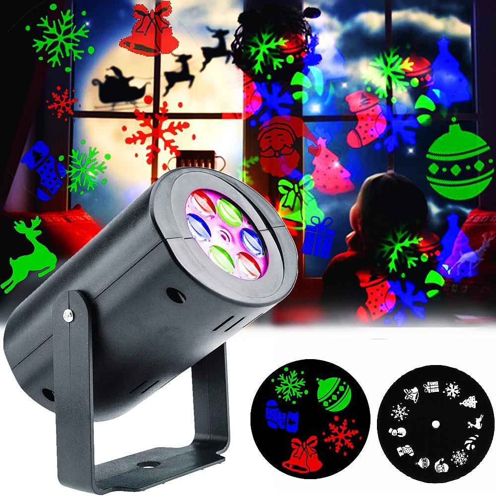 Lámpara LED de proyección de copos de nieve de Navidad, 12 patrones,...