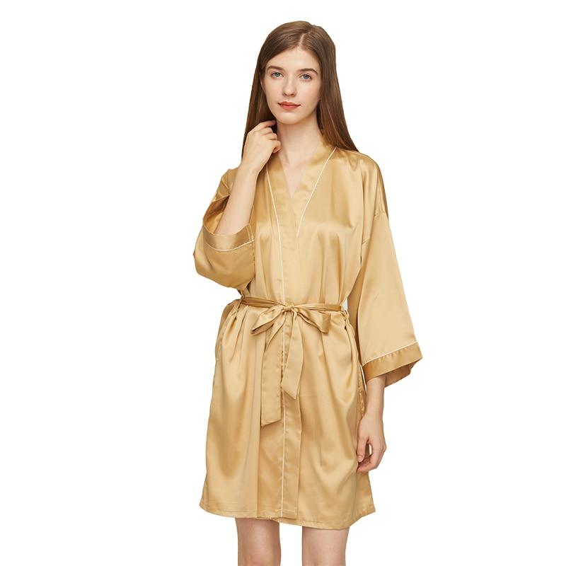 brand new silk satin women robe New Bridesmaid Robes Silk Robe Bride Robe Short Satin Robe Women Wedding Robe Bathrobe Sleepwear Dressing Gown Plus Size
