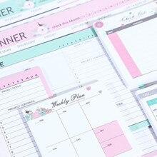 2020 Sharkbang 50 листов Kawaii Корейская ежедневная заметка блокнот Еженедельный ежемесячный планировщик блокнот стол органайзер блокнот школьные канцелярские принадлежности