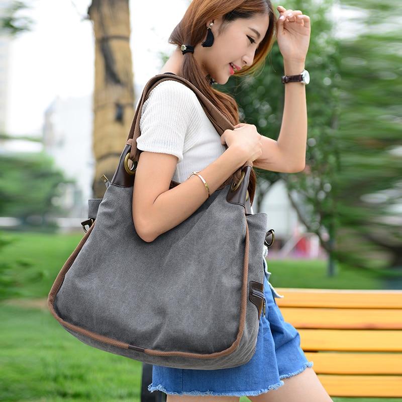 High Quality Female Canvas Tote Women Handbag Woman Shoulder Bags Hobos Bolsa Feminina Large Capacity Handbags Bolsos Mujer Sac