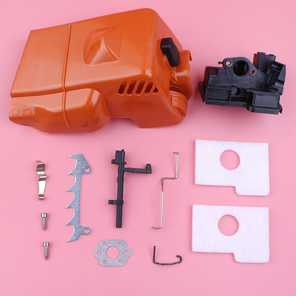 Top Cylinder Engine Cover Shroud For Stihl MS180 018 MS170 017 Air Filter Housing Throttle Choke Rod Chainsaw Replacement Part throttle choke rod intake manifold air filter breather kit fit husqvarna ms180 ms180c ms170 018 017 chain saw parts