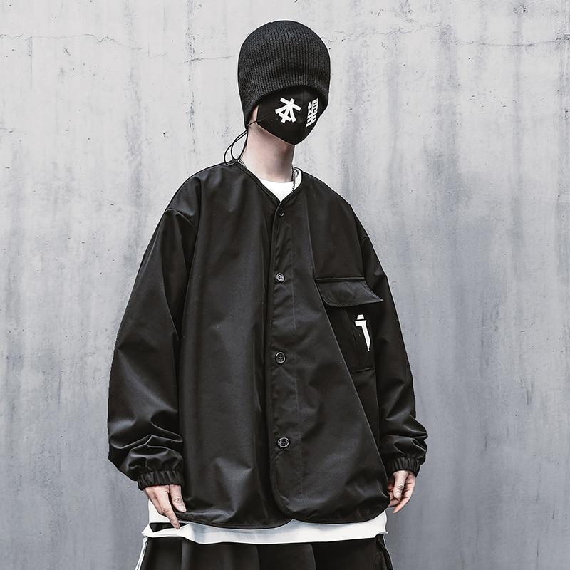 معاطف عصرية للرجال عباءة بغطاء للرأس معطف سادة فضفاض 2021 ملابس الشارع الشهير سترات شتوية طويلة للرأس للرجال مضادة للرياح