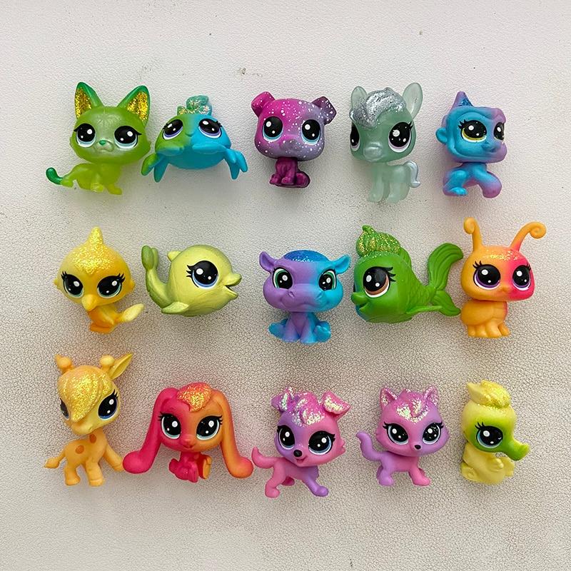 Acheter 5 obtenir 2 cadeaux 3 cm lâche vieux animalerie jouets chat chiot Figure Mini jouet figurines classique petits jouets pour animaux de compagnie