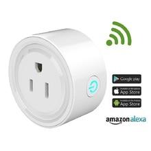 Mini US EU UK  Wifi Plug with Surge Protector Voice Control Smart Socket Work with Alexa Google Home Smart Life APP