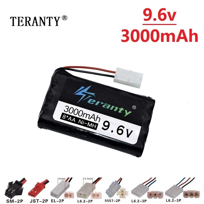 9.6v 3000mah Rechargeable Battery For Rc toys Cars Tanks Robots Gun NiMH Battery AA 9.6v 2400mah Bat