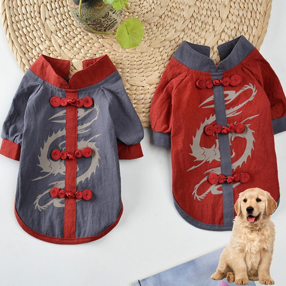 Мягкие Красивые топы для домашних животных Hanfu, одежда для домашних животных, приятная на ощупь, товары для домашних животных