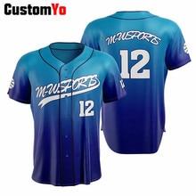 New Design 100% Polyester Baseball Shirts Youth USA Men Baseball Jersey