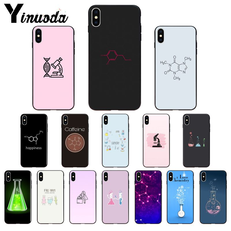 Yinuoda me encanta la química suave de TPU cubierta de la caja del teléfono para Apple iPhone 7 6 6S Plus X XS X MAX 5 5S SE XR 11 11pro max cubierta