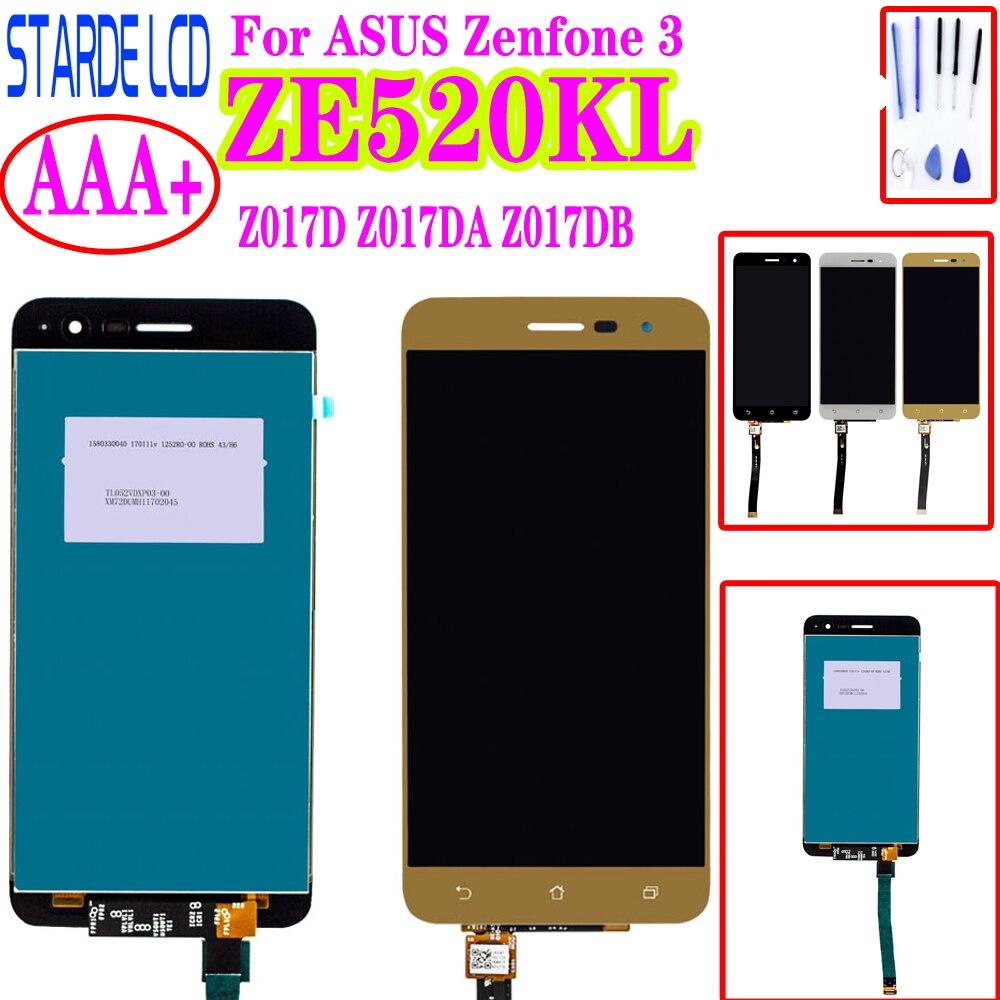 Starde 5.2 ''ekran LCD dla asusa Zenfone 3 ZE520KL Z017D Z017DA Z017DB ZE 520KL wyświetlacz LCD montaż digitizera ekranu dotykowego z ramą