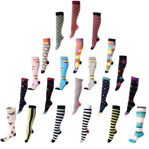 women socks Spot western style sports elastic compression socks nurse leggings high long tube running pressure socks colorful