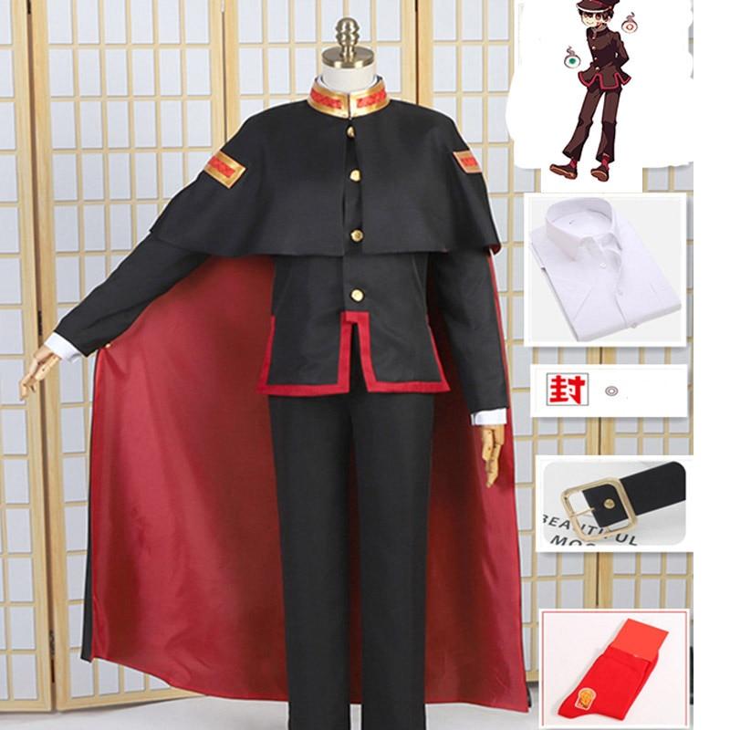 Traje de Cosplay Hanako Kun de Jibaku, disfraz de Carnaval de Halloween