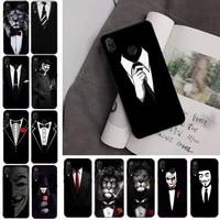 man suit shirt tie phone case for redmi note 8pro 8t 9 redmi note 6pro 7 7a 6 6a 8 5plus note 9 pro case