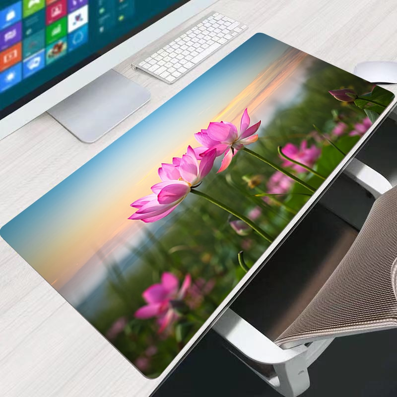 Lotus Top Selling Anime Design Print Anti-Slip New Arrival Customized Rectangular Rubber Mouse Pad Computer PC Nice Gaming Ma