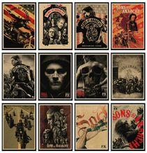 Sons Of Anarchy Posters Film Muurstickers Kraftpapier Papier Prints Helder Beeld Home Decoration Woonkamer 42X30cm
