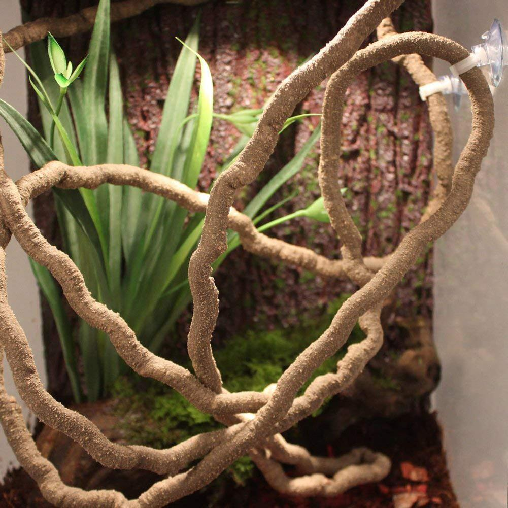 Decoración de plantas falsas para lagartos camaleones plantas de acuario decoración de plantas de acuario accesorios para peceras