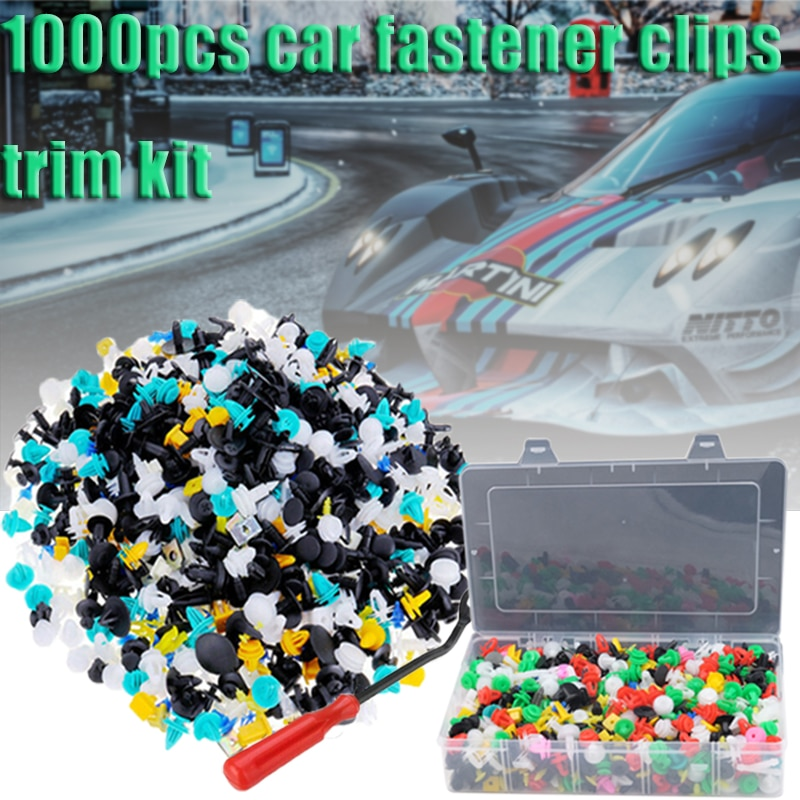 1000 шт. 30 видов универсальные смешанные автомобильные крепежные клипсы для бампера автомобиля фиксаторы клипсы для автомобиля заклепки для ...