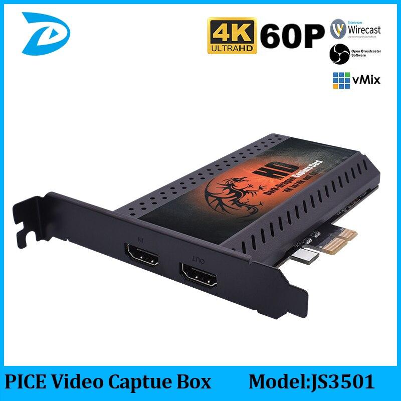 Запись видео 4K 1080P 60fps HD через HDMI соединение PCIE захват, Linux Hdmi видео Захват карты на ПК, PCI-EXPRESS карта 4KP60