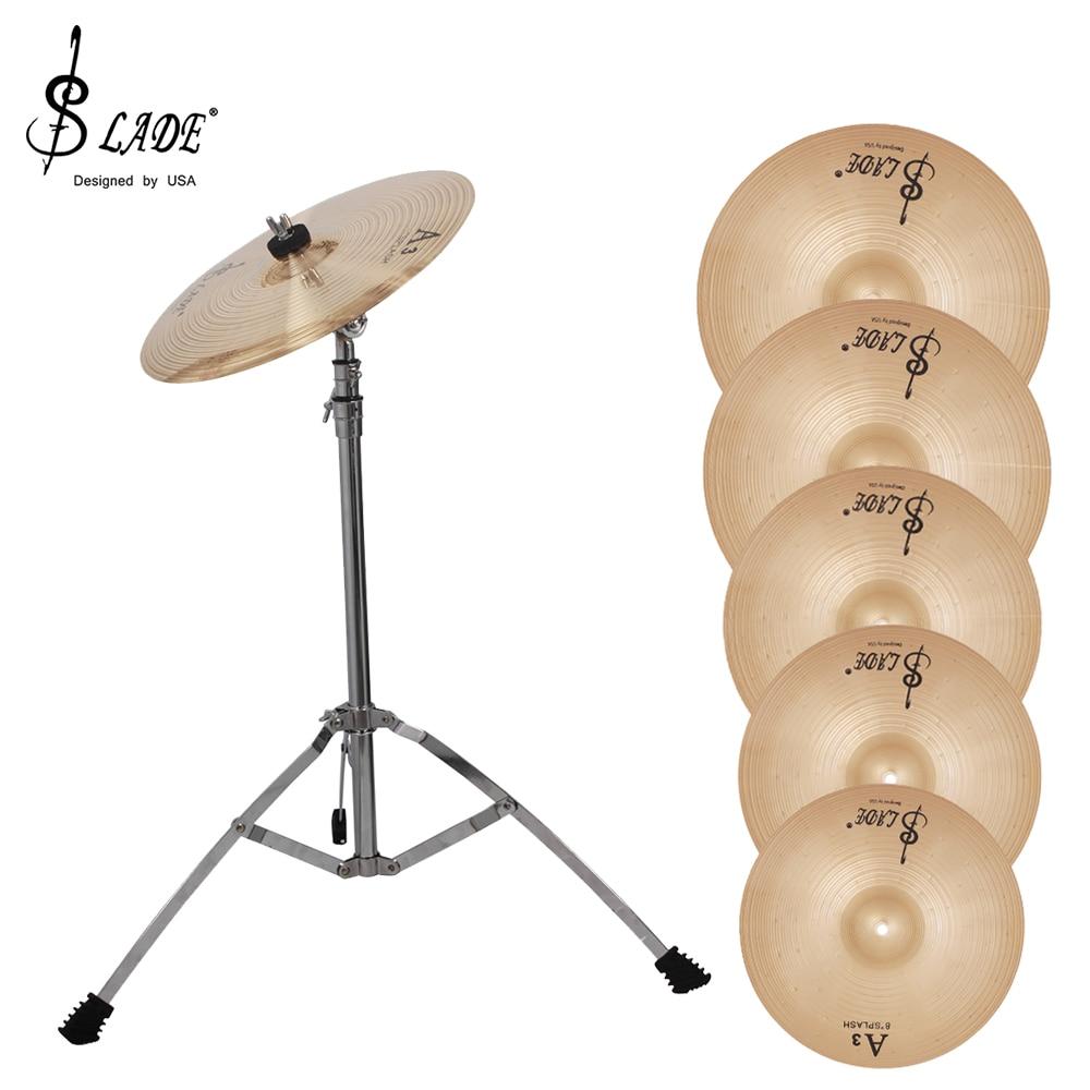 SLADE A3 Phosphor Bronze Cymbals Drums Kit Splash Crash Hi-Hat Cymbal Percussion Instrument Jazz Drum Parts 8/10/12/14/16 Inch