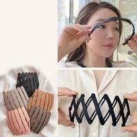 foldable hair hoop solid head hoop women diy hairstyle tools fashion hair accessories hairpins hair clips elastic rubber bands