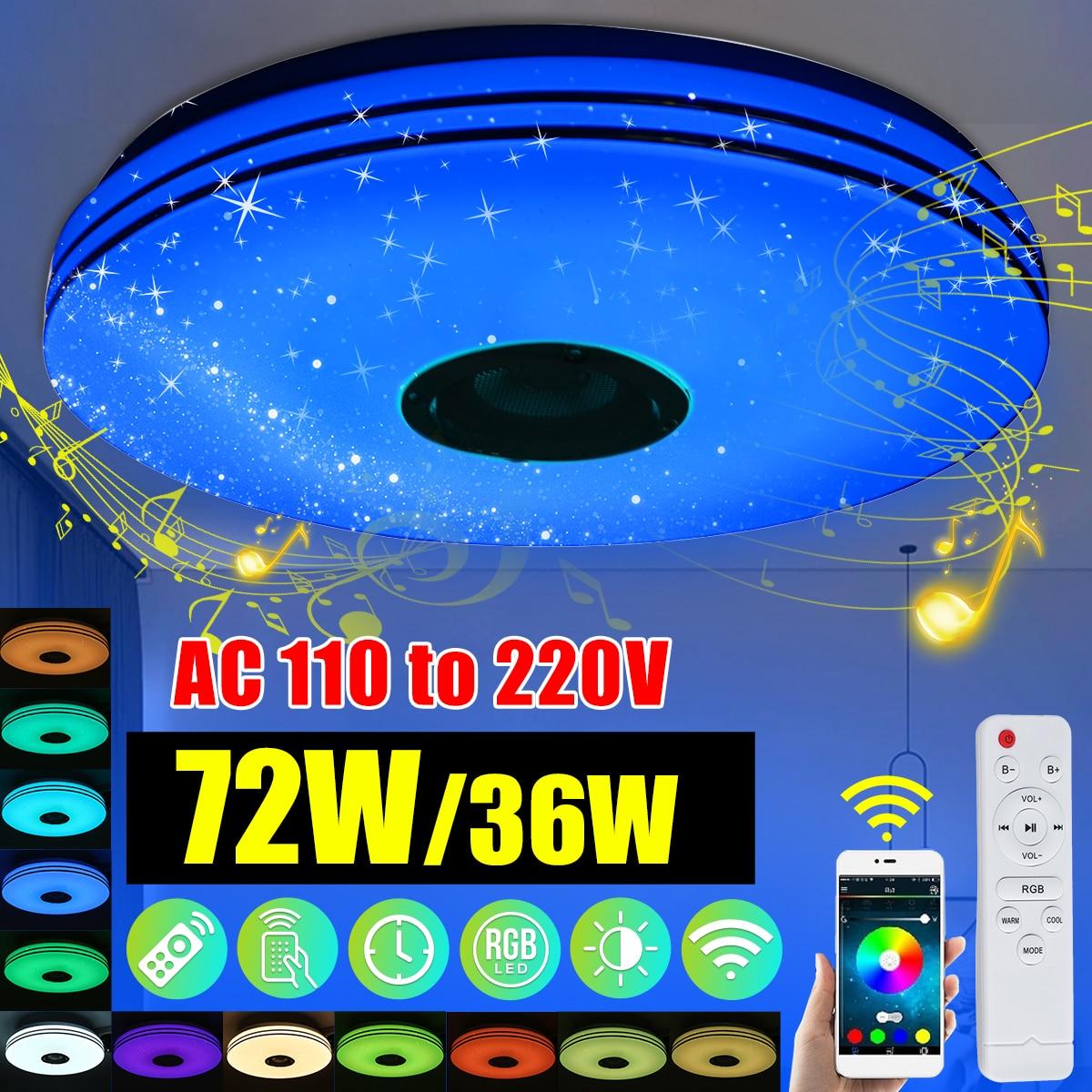 Modern RGB LED Ceiling Lights Home lighting 36W 72W APP bluetooth Music Light Bedroom Lamps Smart Ce
