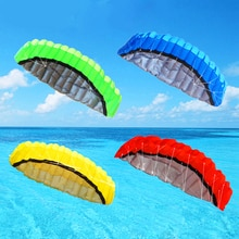 2.5m double ligne parafoil cerf-volant outils électriques tresse voile kiteboard jouets de plein air sport plage parachute cascadeur