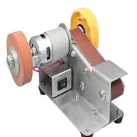 micro 15 degree multi function small mini electric belt machine diy polishing machine woodworking sharpening knife sharpening