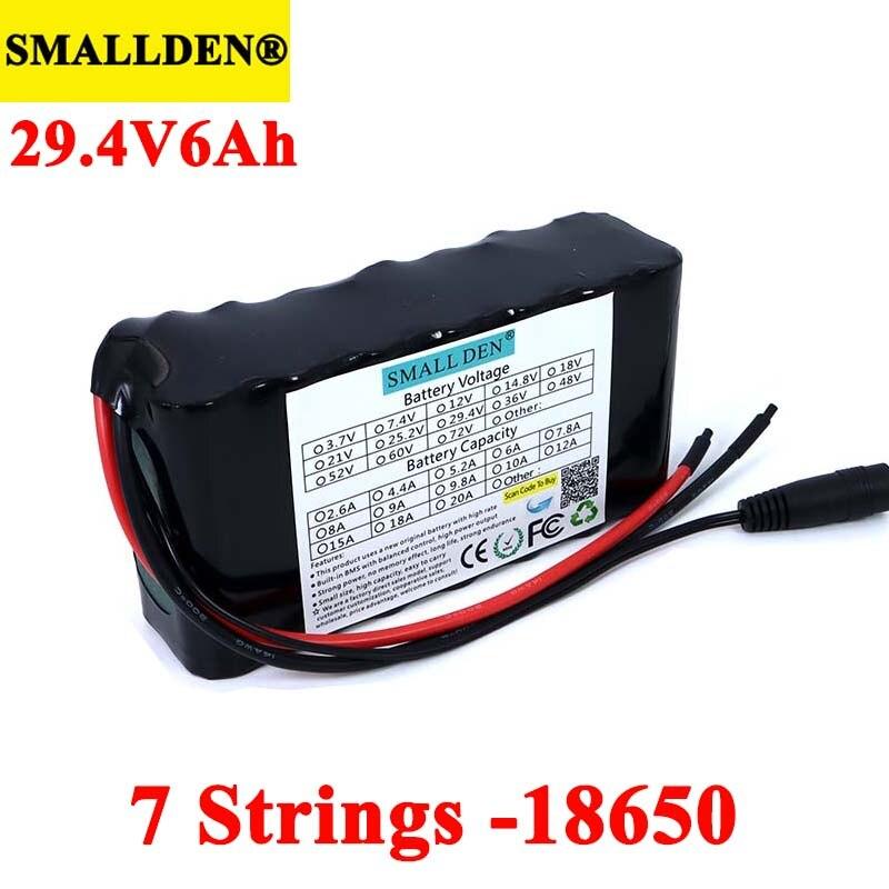 24 فولت 6Ah 7s2p 18650 ليثيوم أيون بطارية قابلة للشحن حزمة 29.4 فولت 6000mAh دراجة كهربائية الدراجة موازنة سكوتر مع BMS