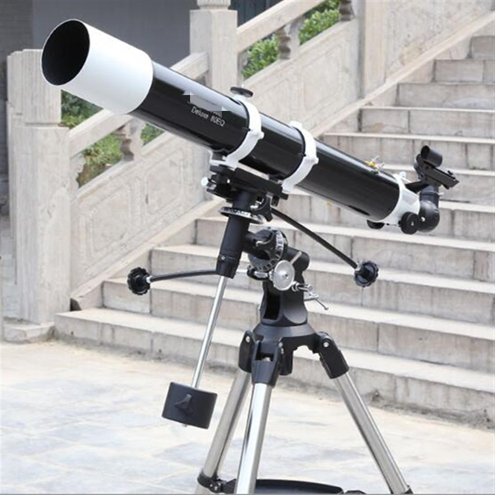 80EQ segunda generación (80DX) refracción telescopio astronómico refractivo sistema óptico EQ2 montura Ecuatorial CE81048