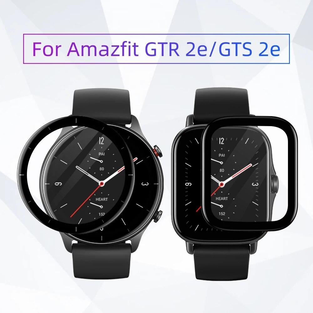 sikai 15w fast wireless charger phone watch stand removable for amazfit gtr2 gtr 2e gts2 gts2 mini gts 2e bip u pro t rex pro Soft Fibre Glass Film Cover For Amazfit GTR 2/GTS 2 GTR 2e/GTS 2e Bip U/Bip U Pro GTS2 Mini GTR2/GTS2 Screen Protector Case