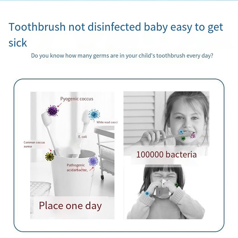 Smart Sonic Electric Toothbrush with Replacement Heads Washable Ultrasonic Whitening Tooth Brush Rechargeable Home Children enlarge