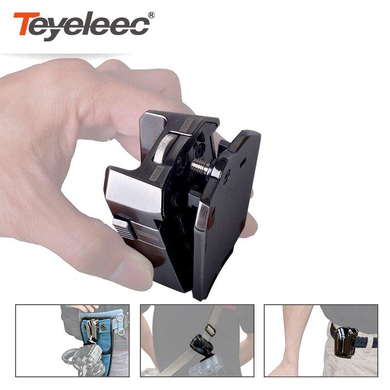 LYNCA métal caméra taille boucle avec 1/4 pince à dégagement rapide étui caméra taille support plaque caméra ceinture support pince suspendue