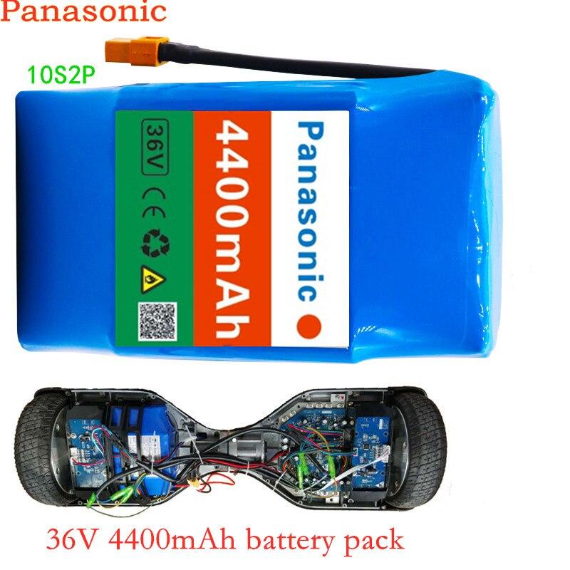 100% bateria recarregável 4400 mah 4.4ah do íon de lítio de panasonic 10s2p 36 v única tensão do ciclo bateria hoverboard