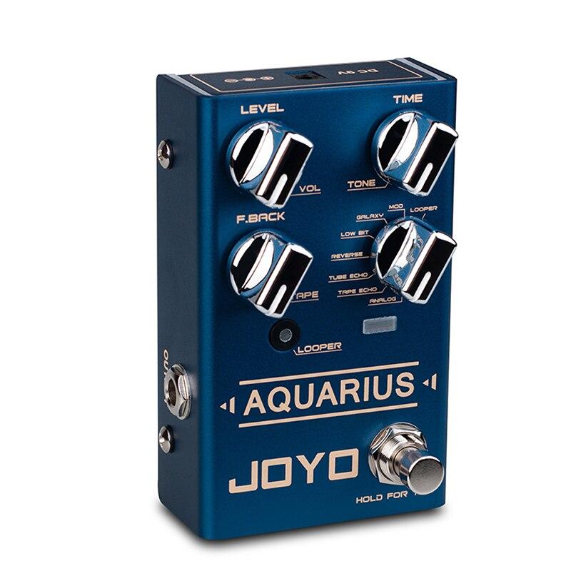 JOYO R-07 Digital Delay Pedal AQUARIUS LOOPER + Delay Pedal Effect 8 Delay Effects Mini LOOPER Pedals for Electric Guitar enlarge