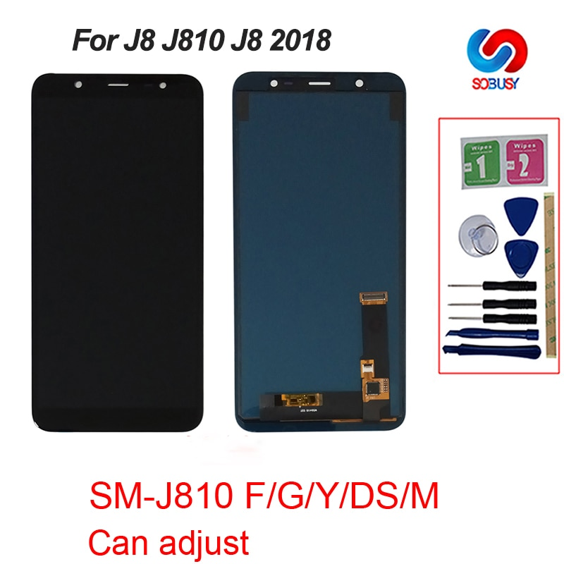Qualidade aaa para samsung galaxy j8 2018 j800 j800fn j810 j810f j810y lcd touch screen digitador display peças de reposição