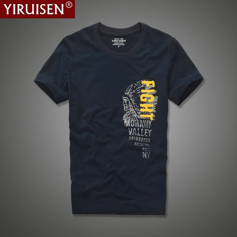 YIRUISEN брендовая одежда модная футболка с индийским принтом Мужская футболка с коротким рукавом 100% хлопковая Футболка Homme Camisetas Masculinas