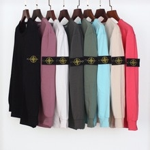 STONE ISLAND 20SS Round Neck Solid Color Pullover Long Sleeve Small Sweater Fabric Bottoming Sweater