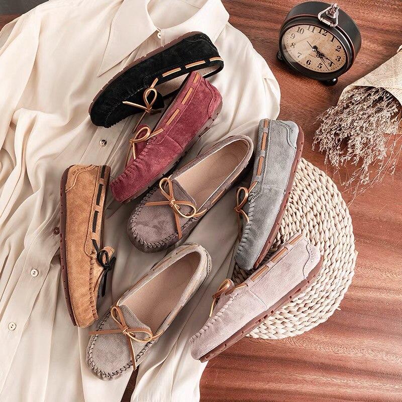 MOOKIAPI العلامة التجارية الصينية عالية الجودة أحذية نسائية ، 100% جلد امرأة fla ، الكلاسيكية المرأة أحذية خفيفة بدون كعب ، التوصيل المجاني