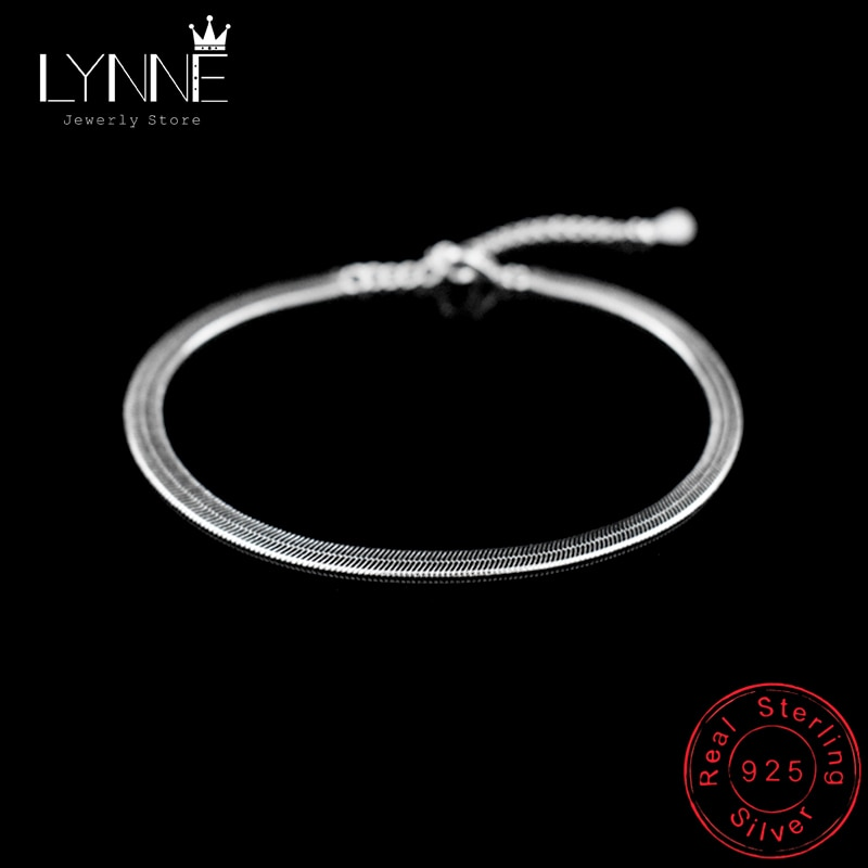 New Arrival Anklet 925 Sterling Ladies Silver Anklets Bracelet Flat Snake Chain For Women Foot Jewel