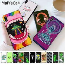 Чехол для телефона MaiYaCa Trippy Tie Dye Peace Alien для iphone SE 2020 11 pro 8 7 66S Plus X XS MAX 5S SE XR
