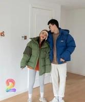 korean winter ader error coats high quality thick warm hooded jacket adererror fashion mens clothing green blue womens coat