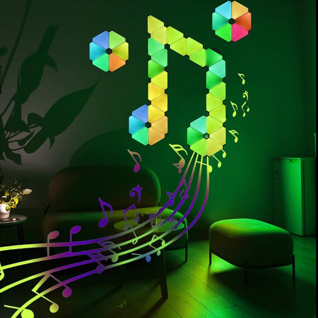 Smart Wall LED Light Gaming Light Panels Panels Touch-Sensitive Night Lights DIY Geometry Splicing Quantum Light Room Decor